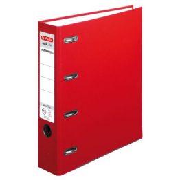 Doppelordner maX.file protect A4 7cm rot, PP-Kunststoffbeschichtet Papier hellgrau besch.