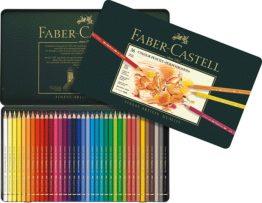 36 Künstlerfarbstifte Polychromos, farbig sortiert im Metalletui