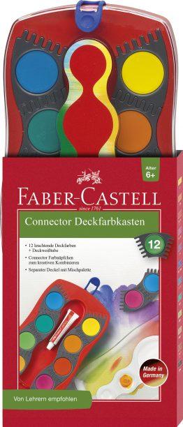 CONNECTOR Farbkasten 12 Farben, inkl. Deckweiß