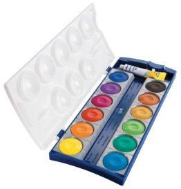Deckfarbkasten 735K/12, Qualitätsfarben und Deckweiß, Kasten mit 12 Farben