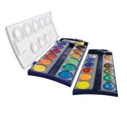 Deckfarbkasten 735/K24, Qualitätsfarben und Deckweiß, Kasten mit 24 Farben