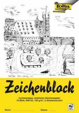 Zeichenblock mit Leinenecken 120 g/m²