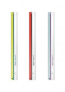 Lineal (Büro, Schule) my.pen f.s., Kunststoff, 30 cm, sortiert