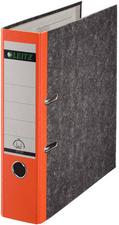 LEITZ Wolkenmarmor-Ordner, 180 Grad, DIN A4, 80 mm, orange