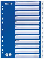 LEITZ Kunststoff-Register, Monate, A4, Jan.-Dez., PP, weiß